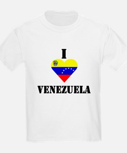 I Love Venezuela Kids T-Shirt