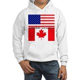 Canadian american Hooded Sweatshirt