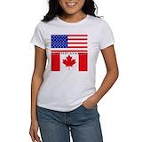 Canadian american Women's T-Shirt