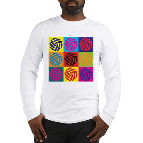 Volleyball Pop Art Long Sleeve T-Shirt