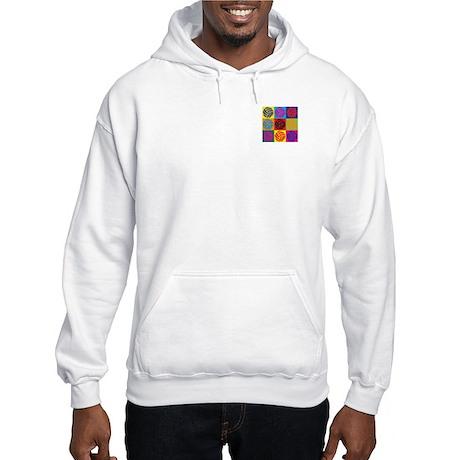 Volleyball Pop Art Hooded Sweatshirt