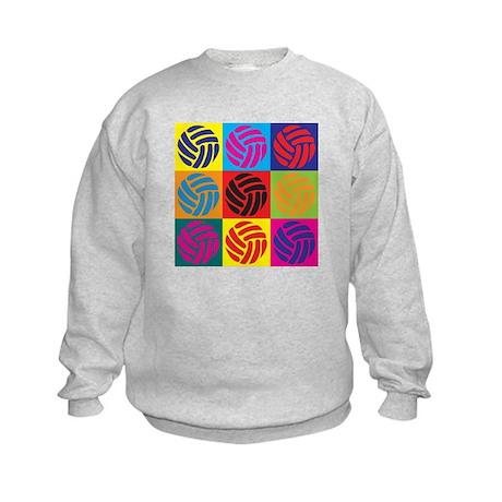 Volleyball Pop Art Kids Sweatshirt