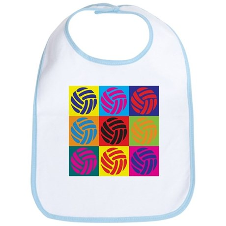 Volleyball Pop Art Bib