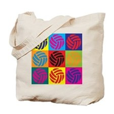 Volleyball Pop Art Tote Bag