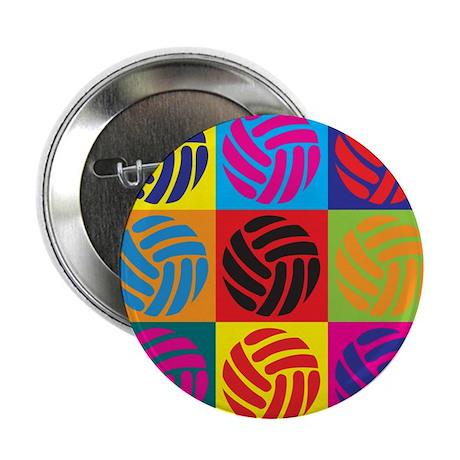 """Volleyball Pop Art 2.25"""" Button"""