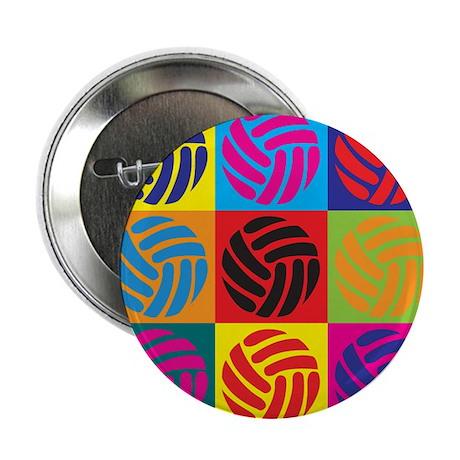 """Volleyball Pop Art 2.25"""" Button (10 pack)"""