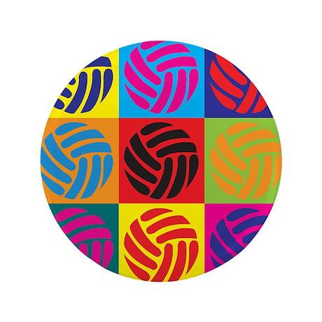"""Volleyball Pop Art 3.5"""" Button (100 pack)"""