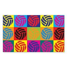 Volleyball Pop Art Rectangle Decal