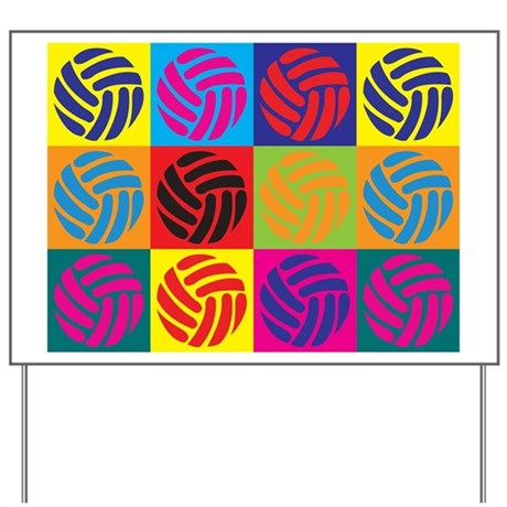 Volleyball Pop Art Yard Sign