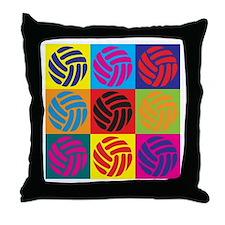Volleyball Pop Art Throw Pillow