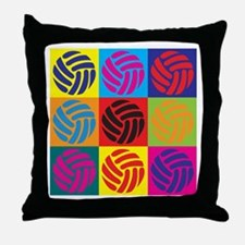 Volleyball Pop Art Throw Pillow