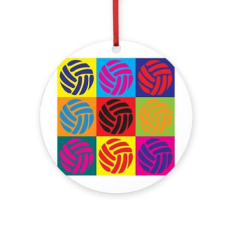 Volleyball Pop Art Ornament (Round)