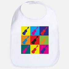 Violin Pop Art Bib