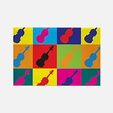 Violin Pop Art Rectangle Magnet