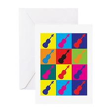 Violin Pop Art Greeting Card