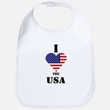 I Love The USA Bib
