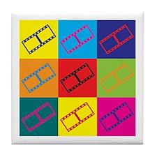 Video Editing Pop Art Tile Coaster