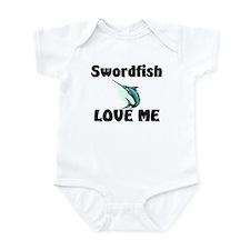 Swordfish Love Me Infant Bodysuit