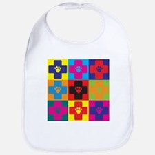 Veterinary Medicine Pop Art Bib