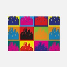 Urban Planning Pop Art Rectangle Magnet