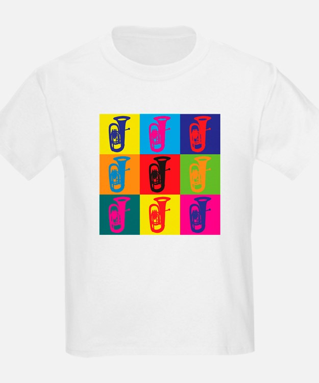 Tuba Pop Art T-Shirt