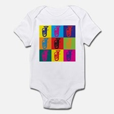 Tuba Pop Art Infant Bodysuit