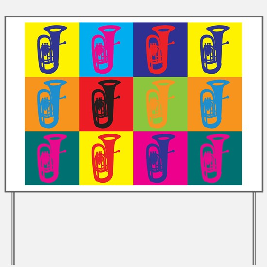 Tuba Pop Art Yard Sign