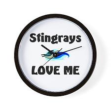 Stingrays Love Me Wall Clock