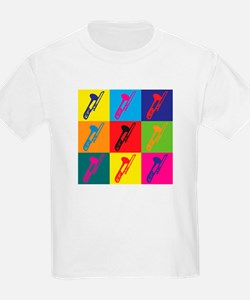 Trombone Pop Art T-Shirt
