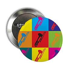 """Trombone Pop Art 2.25"""" Button"""