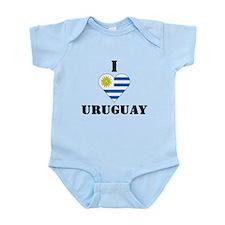 I Love Uruguay Infant Creeper