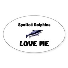 Spotted Dolphins Love Me Oval Sticker
