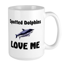 Spotted Dolphins Love Me Large Mug