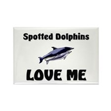 Spotted Dolphins Love Me Rectangle Magnet