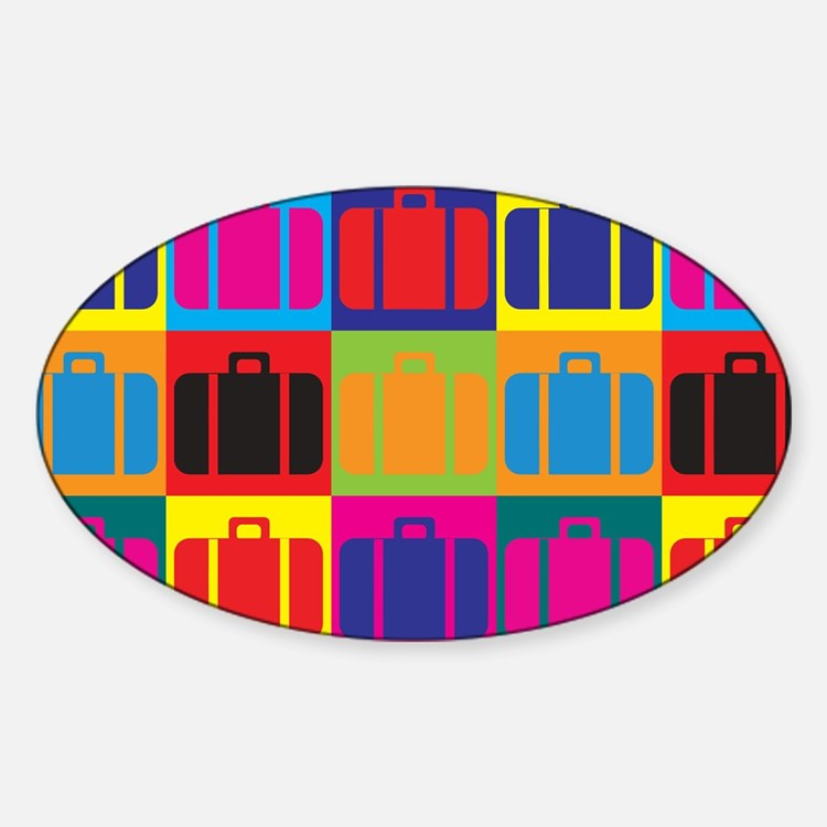 Travel Pop Art Oval Decal