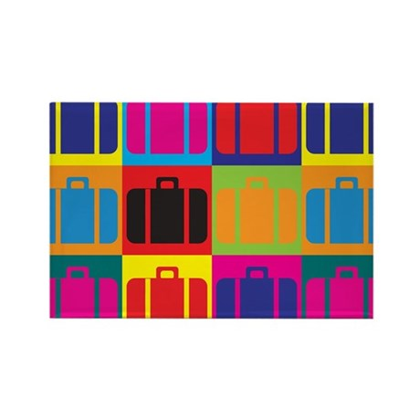Travel Pop Art Rectangle Magnet