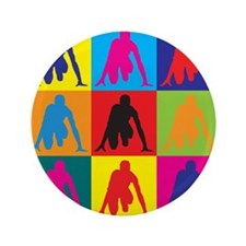 """Track Pop Art 3.5"""" Button (100 pack)"""