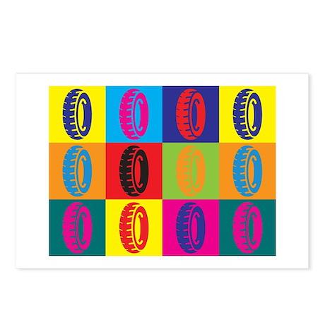 Tires Pop Art Postcards (Package of 8)