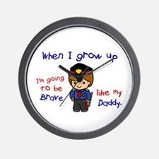 Brave Like My Daddy 1 (Police Officer) Wall Clock