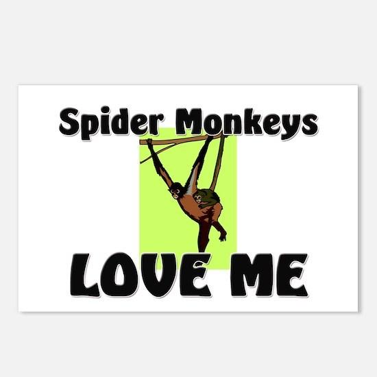 Spider Monkeys Love Me Postcards (Package of 8)