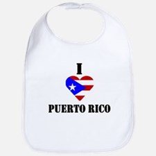 I Love Puerto Rico Bib