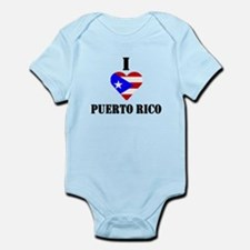 I Love Puerto Rico Infant Creeper