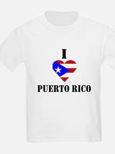 I Love Puerto Rico Kids T-Shirt