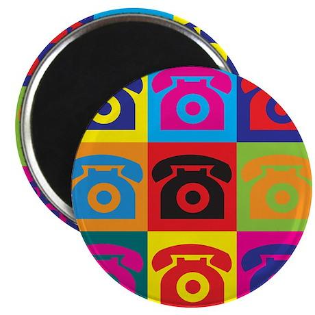 "Telephones Pop Art 2.25"" Magnet (10 pack)"