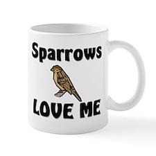 Sparrows Love Me Small Mug