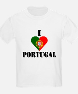 I Love Portugal Kids T-Shirt