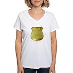 U S Indian Police Women's V-Neck T-Shirt