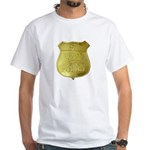 U S Indian Police White T-Shirt