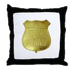 U S Indian Police Throw Pillow