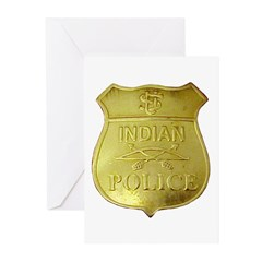 U S Indian Police Greeting Cards (Pk of 10)